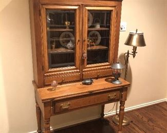 Drexel Federal Style Desk with Hutch Cabinet