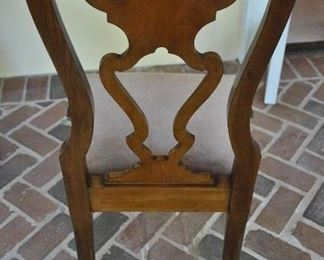 """Offered at $2800.  Set of six Queen Anne style 19th Century Walnut pierced back room chairs. Ball and claw feet with heavy carving to top of legs. (21""""w x 19""""d x 40""""h) ~ Please send inquiries via text to 251.525.0966 and reference the photo number."""