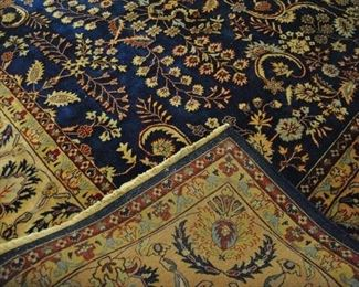 """Offered at $1200.  Persian Imperial Kirman design. Machine loomed. Wool rug. Good condition. (8'3"""" x 10') ~ Please send inquiries via text to 251.525.0966 and reference the photo number."""