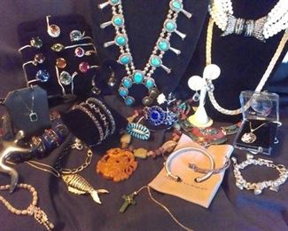 Vast selection of jewelry from gemstones (Presidium gemstone duo tested for authenticity) to Navajo to Jadeite, 925 sterling solid, 14k gold, Yurman, Opal, costume plus more...