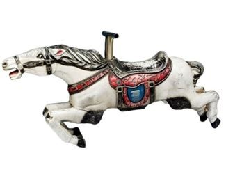 Lot 7  1960's Metal Kiddie Ride Horse from Amusement Equipment Mfg.
