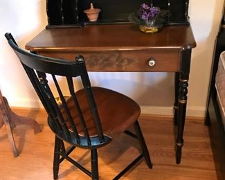 Hitchcock ladies writing desk with chair