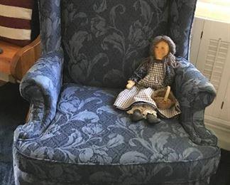 Bassett  Queen Anne wing back chair
