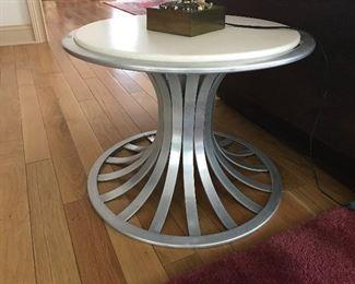 Russel Woodard Aluminum Marble Top Table