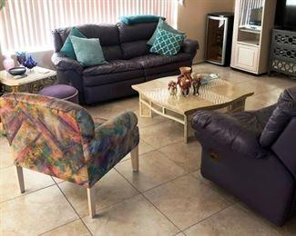 Lovely purple living room set!