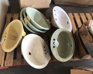 There is a selection of plastic sinks available as well