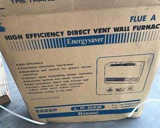 Rinnai heater ES22P Liquid Propane 8,200-20,700 BTU