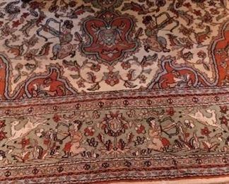 Indo Tabriz pictorial 8.6 x 11.8