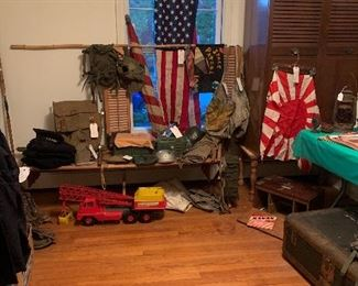 1960's Boy Scout Items, Johnny Express Trucks, 1940's Japanese Flags