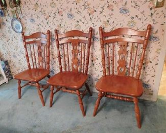 3 of the Maple dining chairs