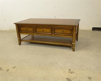 Coffee Table with Through Drawers