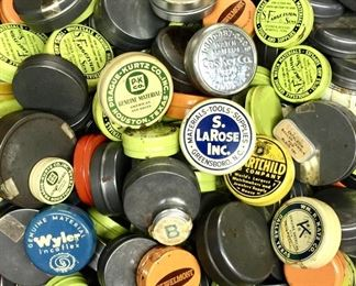 Vintage watchmaker parts tins