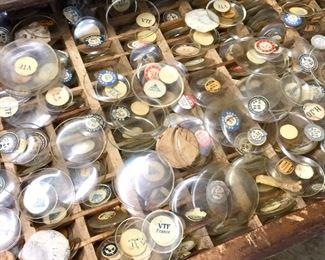 1,000s of Vintage watch crystals