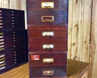 Vintage watch crystal storage cabinets