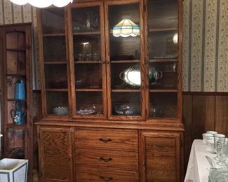 China cabinet with removable hutch