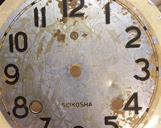 Distressed, vintage clock faces