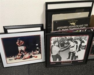 assorted signed Muhammad Ali photos