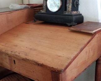 clock & slant lid desk