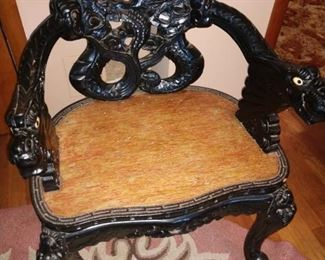 Chinese Chair ( and foot stool..not shown)