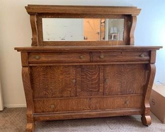Antique Buffet with Mirrored Back https://ctbids.com/#!/description/share/243033