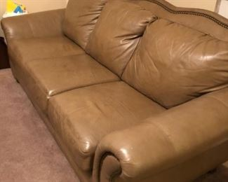 Leather sofa like new