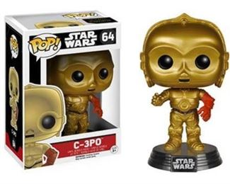 001 Funko POP Collectibles Star Wars C3PO with Errors