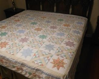 One of several country style quilts