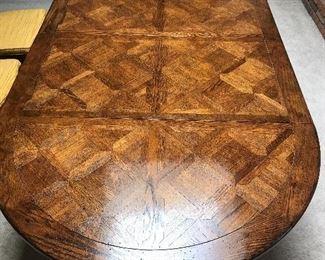 Quarter sawn oak table & chairs