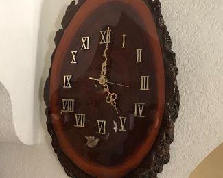 Mid century Black walnut clock