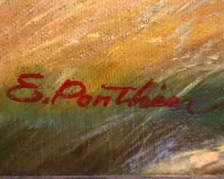 E. Ponthier (American, 20th c.), oil on canvas, signed lower right