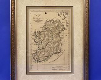 1778 Map of Ireland by Thomas Bowell