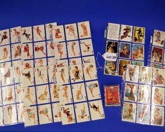 """28. 53 Vargas """"Vanities"""" Pin-Up Playing Cards.  In plastic sleeves."""