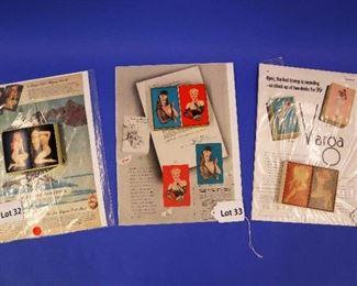 32.Two Decks of Vara Girls Pin-Up Playing Cards, 1940s.  Includes box. 33.Two Decks of Vara Girls Pin-Up Playing Cards, 1940s.  Includes box. 34.Two Decks of Vara Girls Pin-Up Playing Cards, 1945.  Includes box.