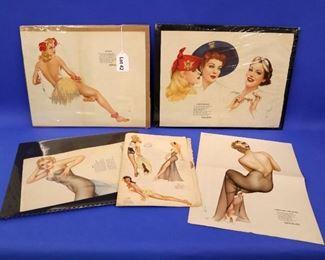 42.Five Pieces of Vargas Girls Pin-Up Art.
