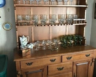 Love this Tel City Buffet and Hutch.  Wonderful stemware.