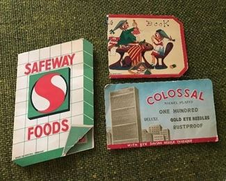 Vintage sewing kits, Safeway, Colossal