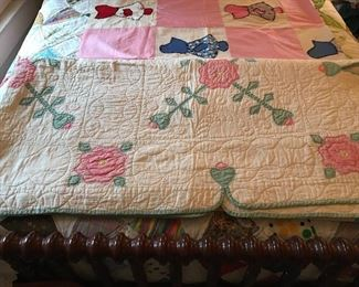 Another beautiful rose hand quilted quilt