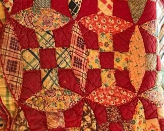 Look at this stunning hand done quilt