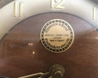 Thwaites & Reed Mantel Clock, made in England
