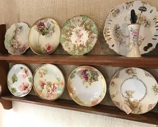 Haviland, Austria and Limoge plates.  Beautiful.  Hat pins