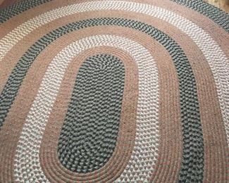 Nice braided oval rug