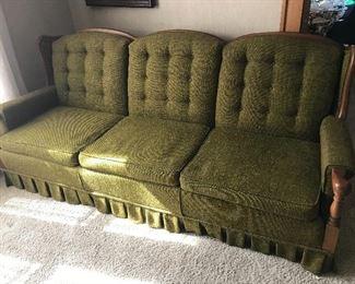 Nice 3 cushion sofa with wood frame