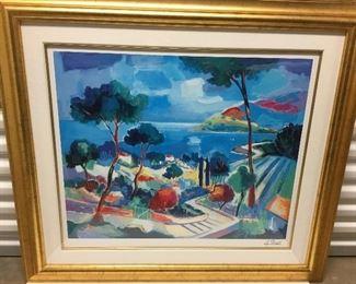 "3.  Artist signed print - Pico Jean-Claude, 36"" x 37.5"""