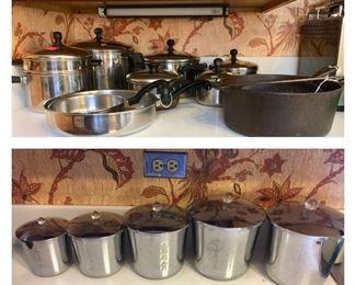 Pots & pans; vintage Everedy canister set (sold)