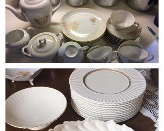 Fukagawa Arita Handpainted coffee set / collection of Lenox pieces (Lenox sold)