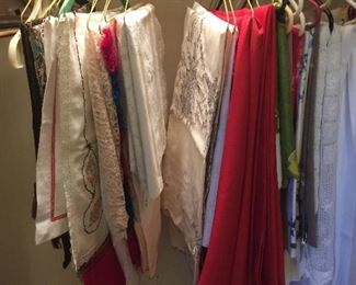 Lots of vintage linens - many more that shown here