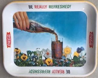 """1961 """"Be Really Refreshed"""" Coca Cola Tray"""