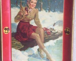 """1940 """"Sailor Girl"""" Coca Cola Tray"""