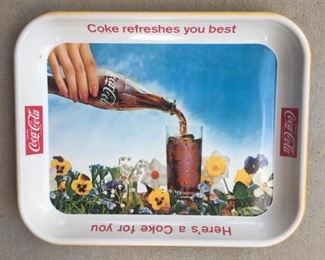 """1961 """"Coke Refreshes You Best"""" Tray"""