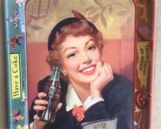 """1953 """"Menu Girl"""" Coca Cola Tray"""